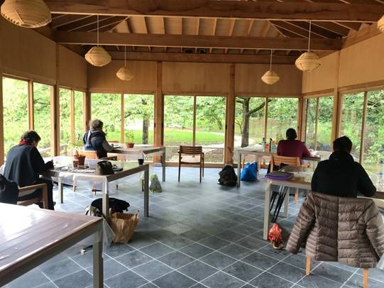 Japanse tuin Hasselt Limburg workshop de groep tonen